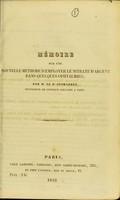 view Mémoire sur une nouvelle méthode d'employer le nitrate d'argent dans quelques ophthalmies / par M. le Dr Desmarres.
