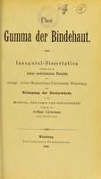 view Über Gumma der Bindehaut ; inaugural-Dissertation / vorgelegt non Arthur Liebetanz.