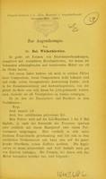 view Zur Augentherapie / von B. Wicherkiewicz.