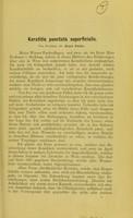 view Keratitis punctata superficialis / Ernst Fuchs.