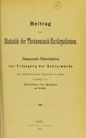 view Beitrag zur Statistik der Thränensack-Exstirpationen : inaugural-Dissertation zur Erlangung der Doctorwürde / Johannes von Ammon.