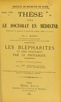 view Les blépharites et leur traitement par le protargol : thèse pour le doctorat en médecine / Georges-P. Robert.