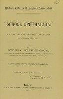 view School ophthalmia : a paper read before the association on February 25th, 1897 / by Sydney Stephenson.