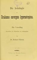 view Die Aetiologie des Strabismus convergens hypermetropicus : eine Vorschlag denselben im Entstehen zu bekämpfen / von Richard Ulrich.