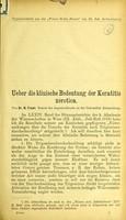 view Ueber die klinische Bedeutung der Keratitis xerotica / von N. Feuer.