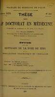 view Étude sur les ruptures de la zone de zinn et la subluxation traumatique du cristallin : these pour le doctorat en médecine / par Edgard Rodet.