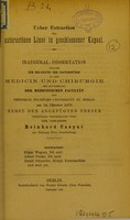 view Ueber Extraction der cataractösen Linse in geschlossener Kapsel : inaugural-Dissertation welche zur Erlangung der Doctorwürde
