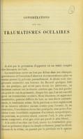 view Considérations sur les traumatismes oculaires / [A. Dehenne].
