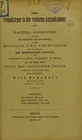 view Ueber Fremdkörper in der vorderen Augenkammer : inaugural-Dissertation welche zur Erlangung der Doctorwürde / der Verfasser Otto Schubert.