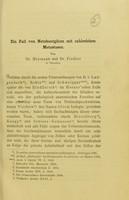 view Ein Fall von Netzhautgliom mit zahlreichen Metastasen / von Dr. Heymann und Dr. Fiedler.