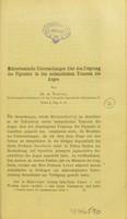 view Mikrochemische Untersuchungen über den Ursprung des Pigments in den melanotischen Tumoren des Auges / A. Vossius.