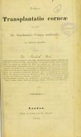 view Ueber transplantatio Corneae und über Dr. Nussbaum's Cornea artificialis / von Friedrich Pauli.