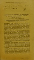 view History of an outbreak of ophthalmia in a good class school : with remarks / by Simeon Snell.