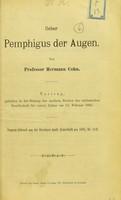 view Ueber Pemphigus der Augen / von Hermann Cohn.