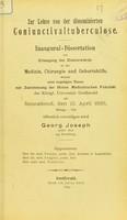 view Zur Lehre von der Disseminierten Coniunctivaltuberculose : inaugural-Dissertation zur Erlangung der Doktorwürde / öffentlich verteidigen wird Georg Joseph.
