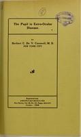 view The pupil in extra-ocular disease / by Herbert C. de Cornwell.