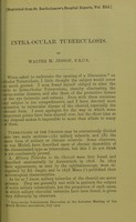 view Intra-ocular tuberculosis / by Walter H. Jessop.