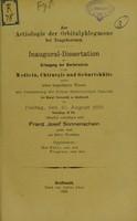 view Zur Aetiologie der Orbitalphlegmone bei Neugeborenen : inaugural-Dissertation zur Erlangung der Doctorwürde / Franz Josef Sonnenschein.
