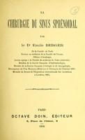 view La chirurgie du sinus sphénoidal / par Emile Berger.