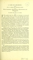 view A case of chloroma / by S. C. Ayres ; with additional microscopical examination and photograph by Adolf Alt.