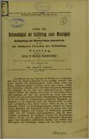 view Ueber die Nothwendigkeit der Einführung neuer Massregeln zur Bekämpfung der Blennorrhoea neonatum, als eine der häufigsten Ursachen der Erblindung : Vortrag gehalten in der Section für öffentliche Gesundheitspflege des Aiener medicin, Doctoren-Collegiums am 7 Februar 1883 / von Hans Adler.