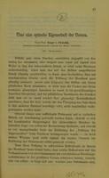 view Über eine optische Eigenschaft der Cornea / von Ernst v. Fleischl.
