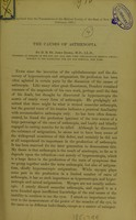 view The causes of asthenopia / by D. B. St. John Roosa.