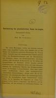 view Bestimmung des physikalischen Baues des Auges : experimentelle Studien / von Prof. Dr. Schoeler.