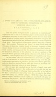 view A word concerning the etiological relationship of epidemic influenza to chronic glaucoma / by G. E. de Schweinitz.