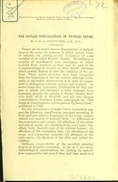 view The ocular complications of typhoid fever / by G. E. de Schweinitz.