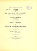 view Réflexions sur quatre cas d'ophthalmie sympathique : thèse pour le doctorat en médecine / par Alfred Fauchart.