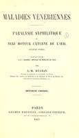 view Maladies vénériennes : paralysie syphilitique du nerf moteur externe de l'oeil / par J.-M. Beyran.
