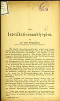 view Die Intoxikationsamblyopien / von Otto Bergmeister.