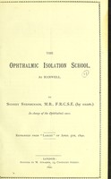 view Central London School District : report on ophthalmia.