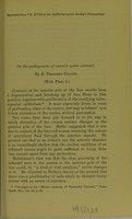 view On the pathogenesis of anterior polar cataract / by E. Treacher Collins.