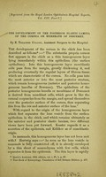 view The development of the posterior elastic lamina of the cornea or membrane of descemet / by E. Treacher Collins.