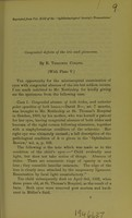 view Congenital effects of the iris and glaucoma / by E. Treacher Collins.
