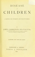 view Disease in children : a manual for students and practitioners.