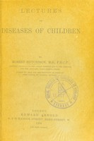 view Lectures on diseases of children.