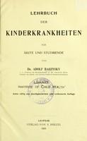 view Lehrbuch der Kinderkrankheiten : Fur Arzte und Studirende.