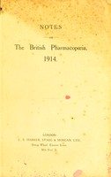 view Notes on the British pharmacopœia, 1914.