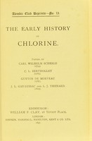 view The early history of chlorine / papers by Carl Wilhelm Scheele ... [and others].