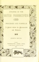 view Synopsis of the British Pharmacopœia, 1898. Processes and formulae. A pocket guide, etc.