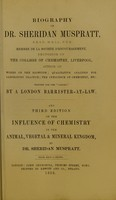 view Biography of Dr. Sheridan Muspratt ... / by a London barrister-at-law.