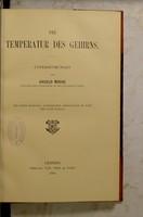 view Die Temperatur des Gehirns : Untersuchungen / von Angelo Mosso.