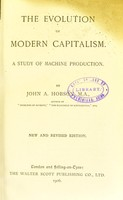 view The evolution of modern capitalism : a study of machine production