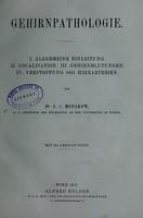 view Gehirnpathologie / von C.v. Monakow.