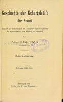 """view Geschichte der Geburtshulfe der Neuzeit : zugleich als dritter Band des """"Versuches einer Geschichte der Geburtshulfe"""" von Eduard von Siebold / von Rudolf Dohrn."""