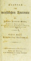 view Handbuch der menschlichen Anatomie / von Johann Friedrich Meckel.