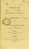 view An introduction to physiological and systematical botany